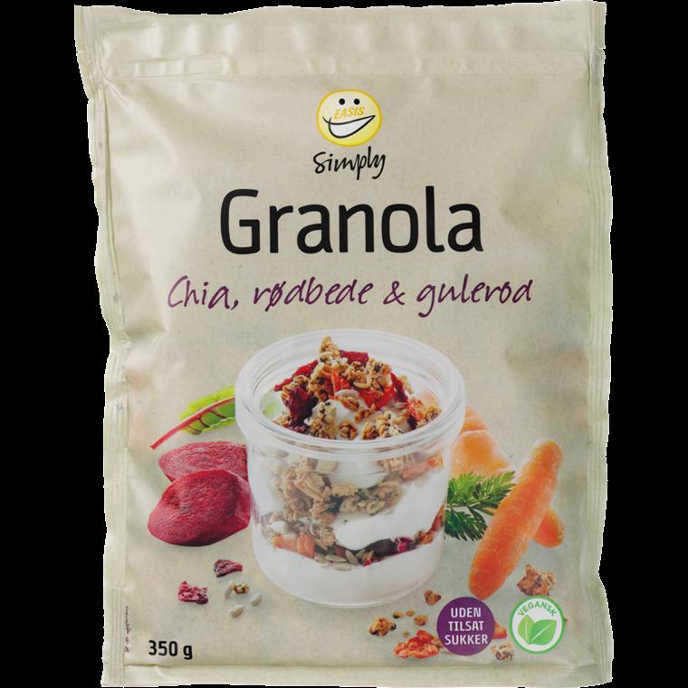 EASIS Simply Granola med Chia, rødbete og gulrot