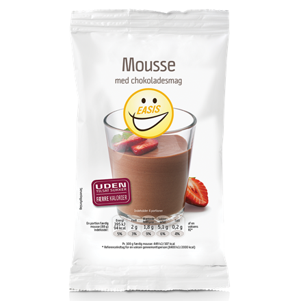 Mousse with chocolate