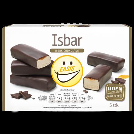 Ice cream bar with dark chocolate