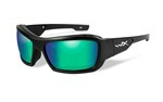 KNIFE Polarized Emerald Mirror<br />Matte Black Frame