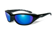 AIRRAGE Polarized Blue Mirror<br />Gloss Black Frame