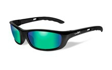 P-17 Polarized Emerald Green<br />Gloss Black Frame