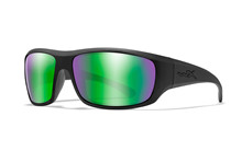 OMEGA Polarized Emerald Mirror<br />Matte Black Frame