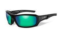 ECHO Polarized Emerald Mirror<br />Gloss Black Frame