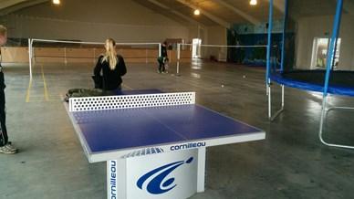 Carlsberghallen, badminton, klatre v�g, trampolin og meget andet.