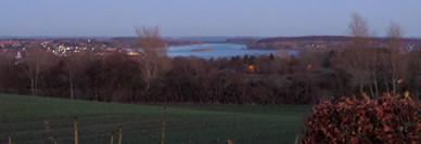 Udsigt over Thurø med Langeland i baggrunden.