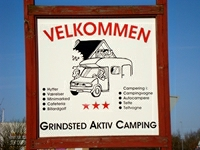 Sign at the entrance to the campsite