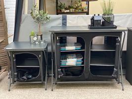 Flotte borde fra Kampa/Dometic - her er vist Tilly-bordet (det lille) og Zara-bordet