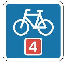 Sådan er de nationale cykelruter afmærket.
