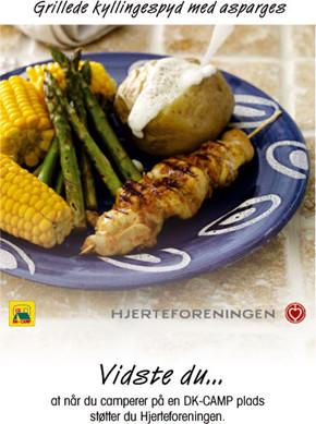 Grilllede kyllingespyd med asparges