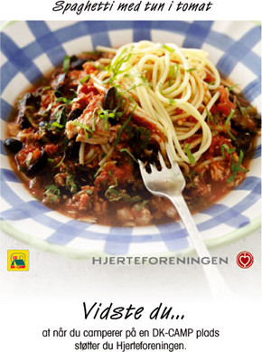 Spaghetti med tun i tomat