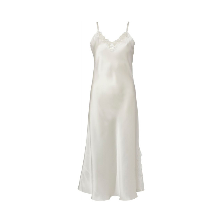 Lady Avenue Silke Natkjole Offwhite - 27-80805