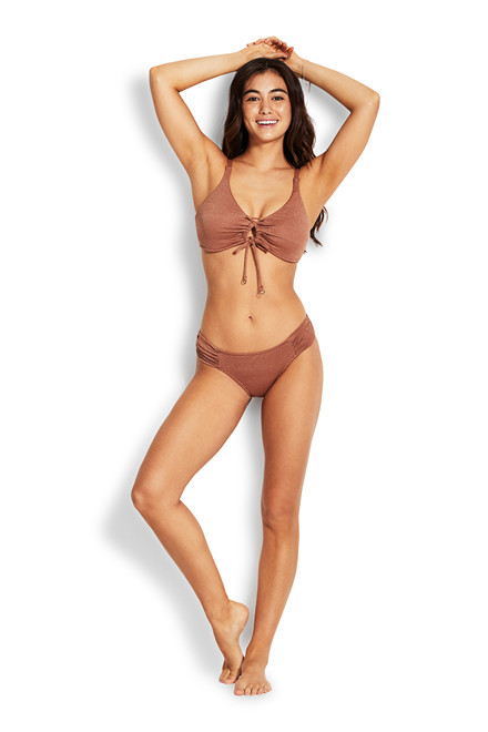 Seafolly STARDUST RUCHED SIDE RETRO TAI 40145-682 BRONZE
