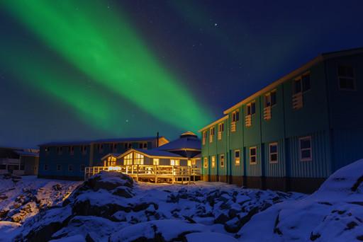 Efterår og Nordlys i Grønland