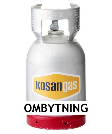 Kosangas 6 kg gas ved ombytning af alu flaske (afhentet)