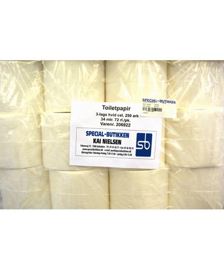 Toiletpapir 3-lags - 72 ruller