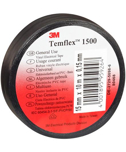 3M Temflex 1500 isolerbånd - sort