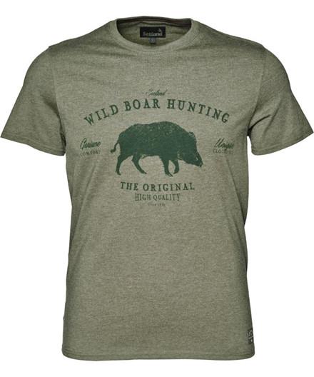 Seeland Aiden Printed T-shirt Duffel Green Melange