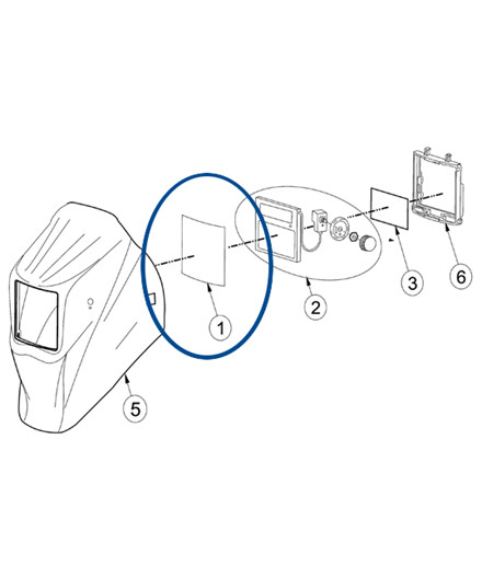 Udvendig beskyttelsesglas til VarioProtect L-2 svejsehjelm