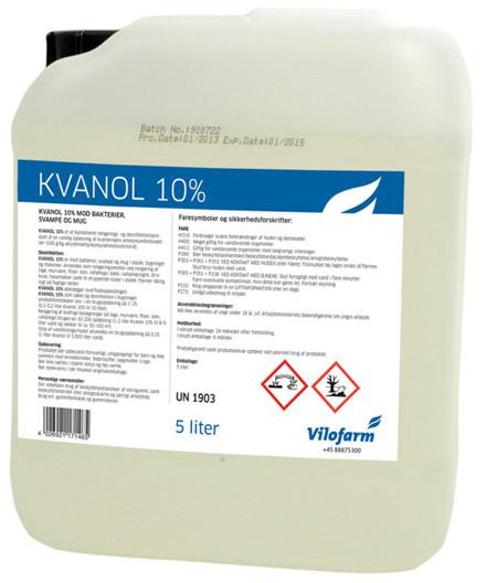 Kvanol 10% rensevæske 5 liter