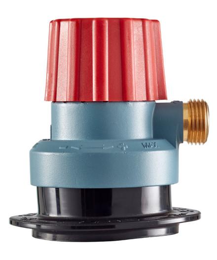 Kobling til flasker med click-on ventil - tysk gevind afgang (ureduceret tryk)