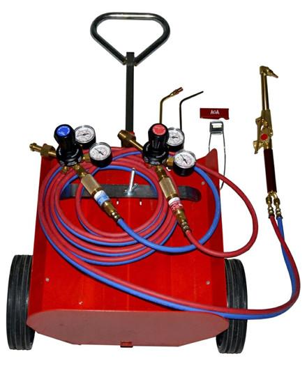 AGA AO 5/10 flaskevogn m/ udstyr