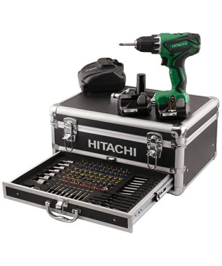 Hitachi bore-/skruemaskine DS10DAL m/ 100 dele i aluboks