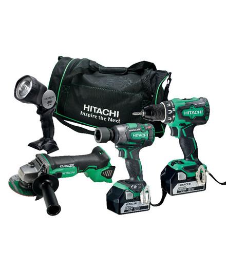 Hitachi 18V kombisæt m/ 4 dele