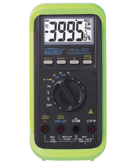 Elma 805 digitalt multimeter m/ gummikappe