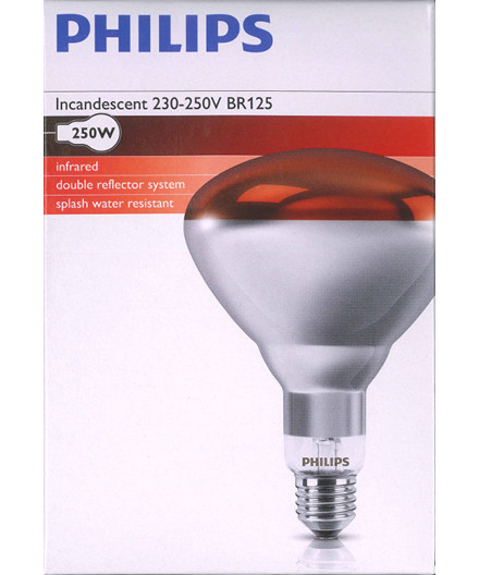 Philips varmepære 250W