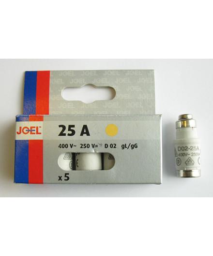 JO-EL D02 25A neozed sikring 5 stk.