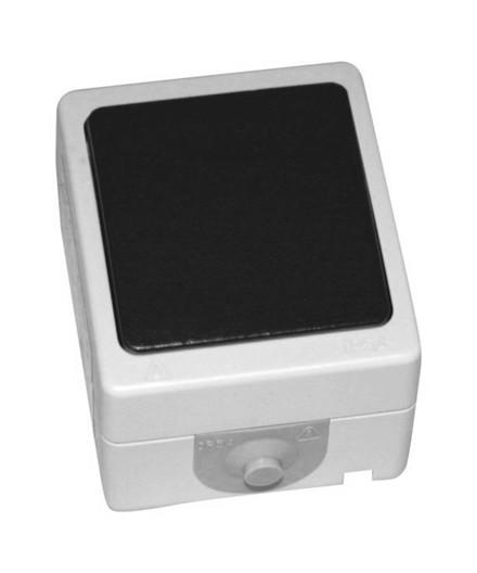 Schneider 1 pol afbryder 250V m/ korrespondance IP54