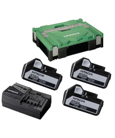 Hitachi 18V batteripakke m/ 3 stk. 5,0Ah batterier