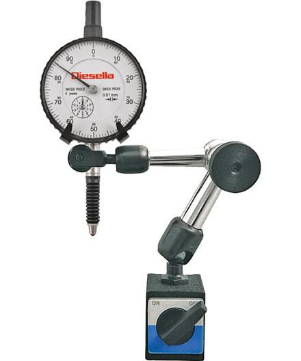 Diesella mini magnetstander m/ måleur