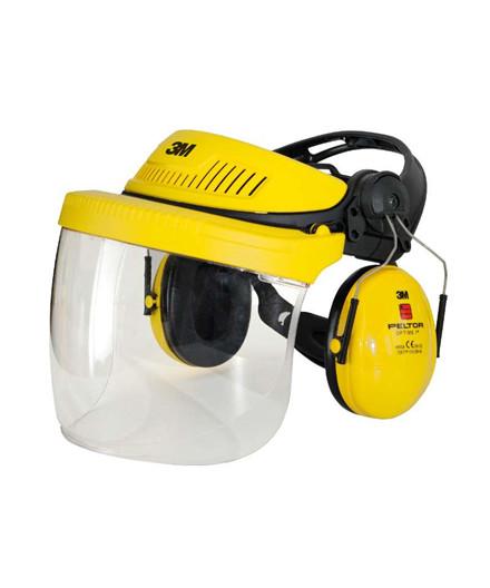 3M G500V5FH pandeskjold m/ visir og høreværn