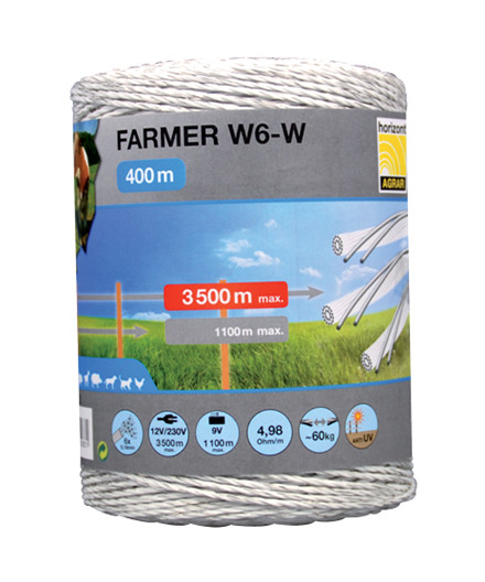 Farmer W6-W polytråd 400 m