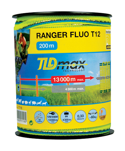 Ranger Flou T12 Polytape Fluo 12 mm - 200 m