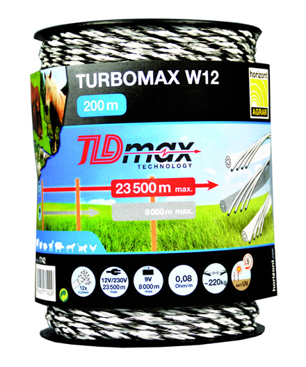 Turbomax W12 polytråd 200 m