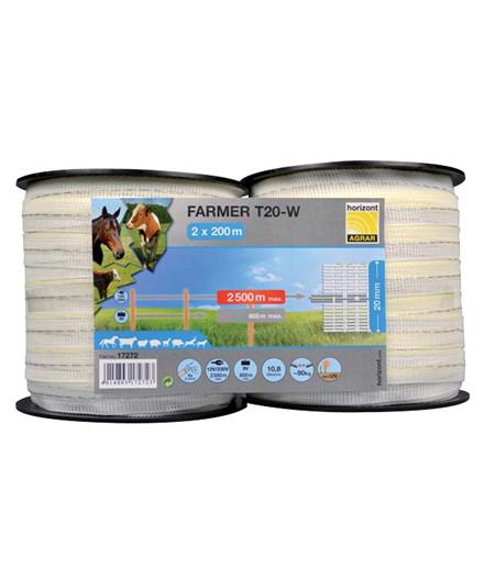 Farmer T20-W polytape 20 mm - 2x 200 m
