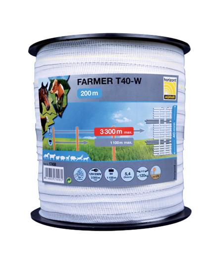 Farmer T40-W polytape 40 mm - 200 m