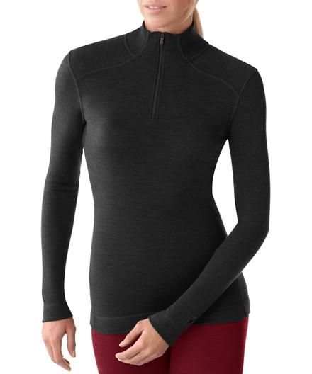 Smartwool langærmet undertrøje m/ lynlås - dame