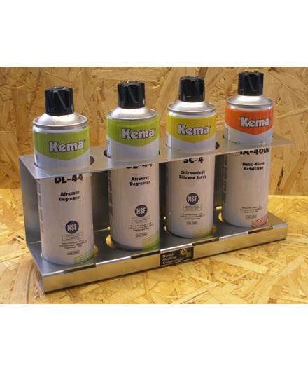 Holder til spraydåser m/ 4 rum