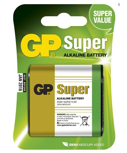 GP batteri Super Alkaline 4,5V/3LR12 1 stk.