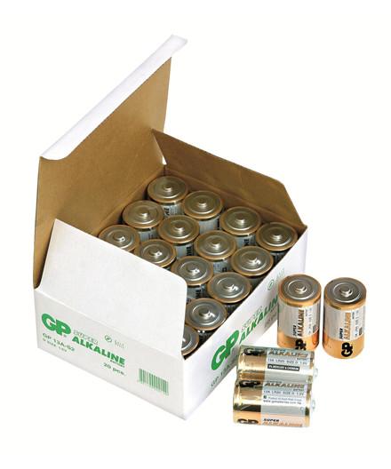 GP Super Alkaline batterier LR20/D 20 stk.