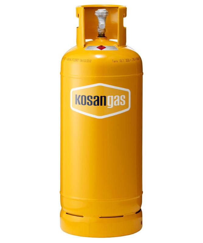 Kosangas 17 kg stålflaske - UDEN GAS