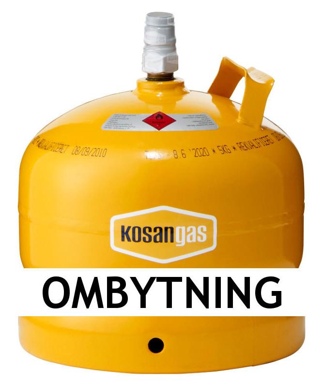 Kosangas 5 kg gas ved ombytning af stålflaske (afhentet)