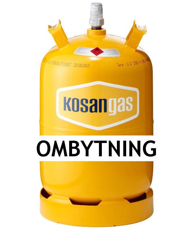 Kosangas 11 kg gas ved ombytning af stålflaske (afhentet)