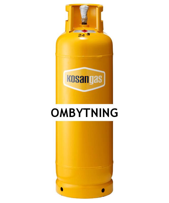 Kosangas 22 kg gas ved ombytning af stålflaske (afhentet)