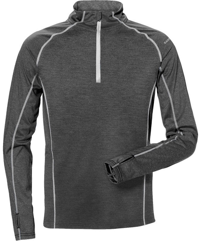 Kansas sweatshirt med kort lynlås