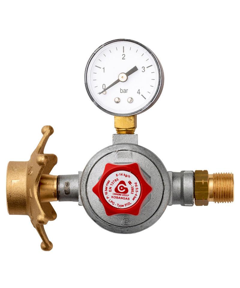 Mellemtryksregulator m/ stjerneomløber 0,5-4 bar